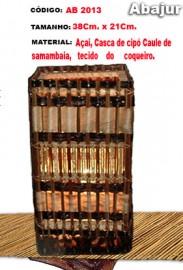 Abajur de mesa Artesanal- Ab-2013