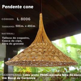 Pendente Cone Artesanal L8006